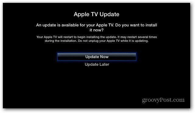 1 Apple TV update