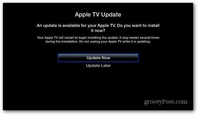 1 Apple TV update