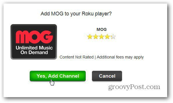 How To Add MOG to Roku