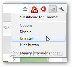 Dashboard Uninstall