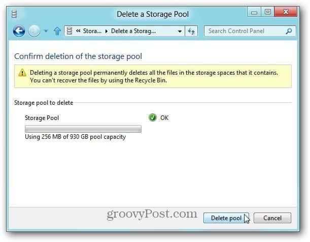 Delete Pool