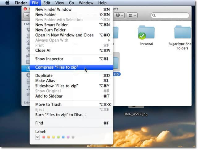 how to make a folder a zip file mac