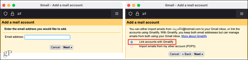 Add an email account in Gmail