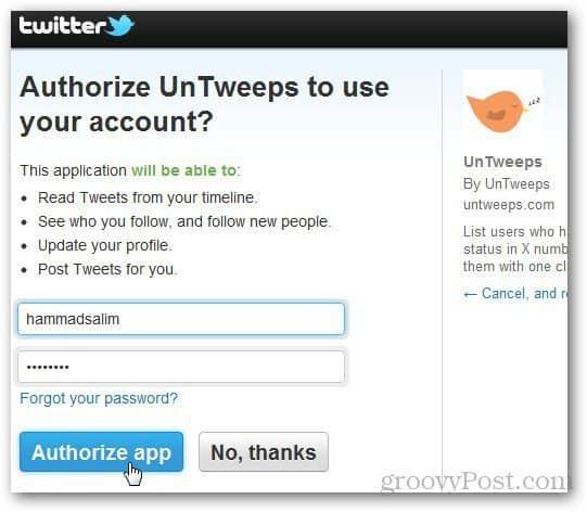 Unfollow Twitter Users 2