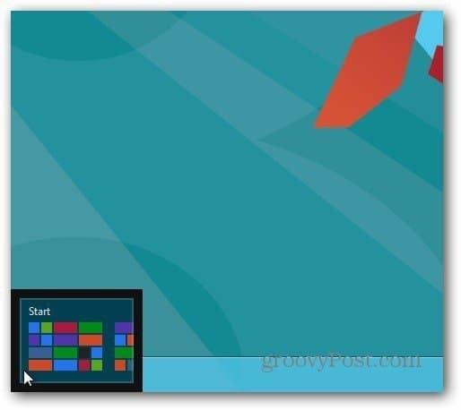 Windows 8 Start Corner
