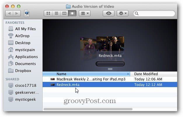 Convert Video to Audio in iTunes