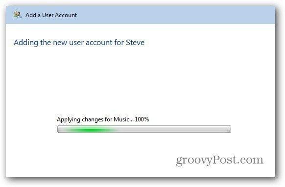creating account