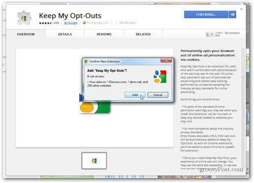 do not track google chrome extension