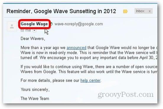 google wage