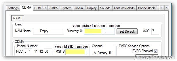 Enter epic DIR and MSID number