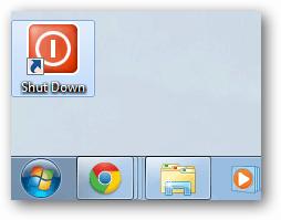Shutdown button on desktop