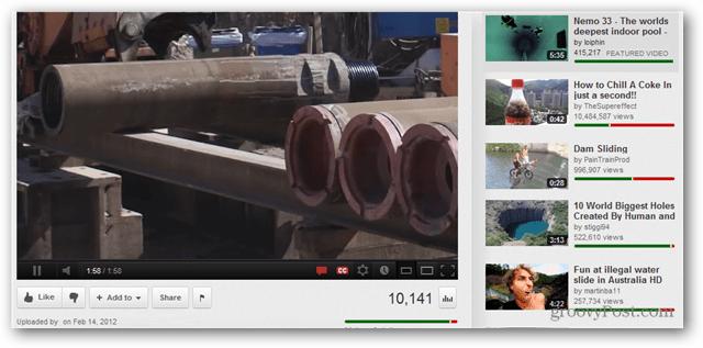Cómo mostrar las clasificaciones de los videos de YouTube en la barra lateral relacionada