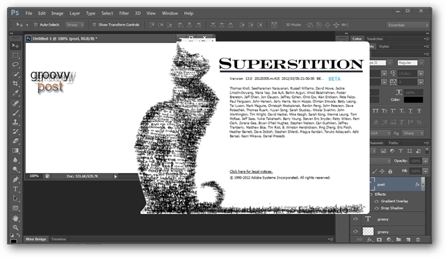 photoshop cs 6 cat screen
