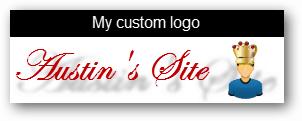 custom wordpress logo