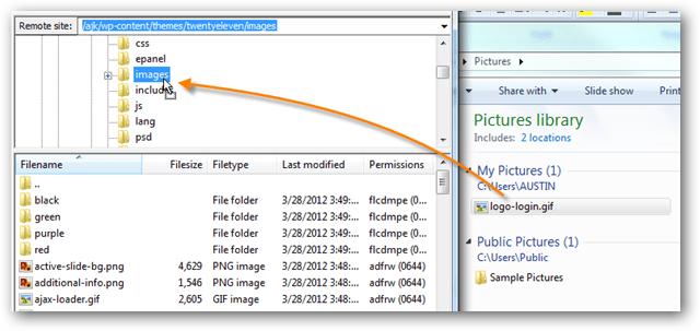 wordpress themes images folder