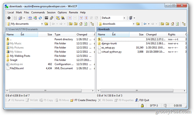 Tired of Installing FTP Programs? Try WinSCP Portable