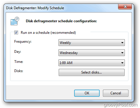 defrag schedule frequency