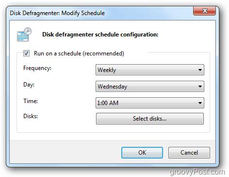 defrag schedule frequency