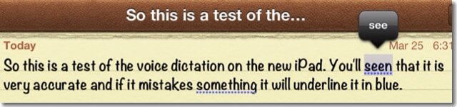 dictation test