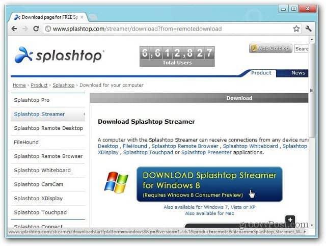 1download Splashtop Streamer