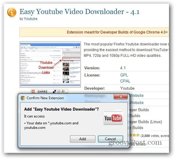 Chrome Easy YouTube