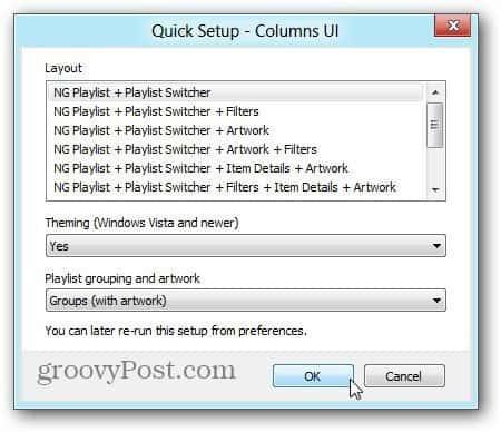Columns UI Quick Setup
