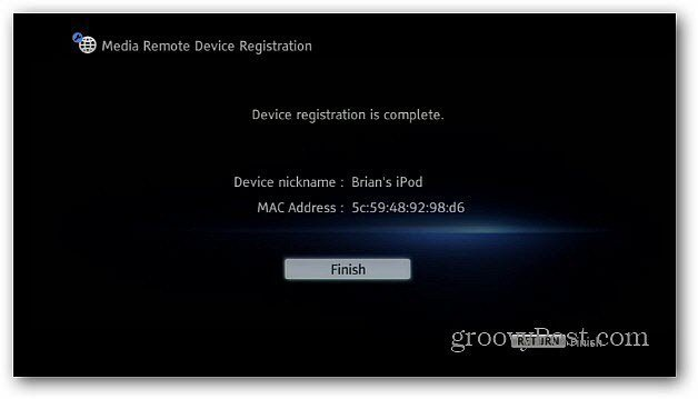 Device Registered Success