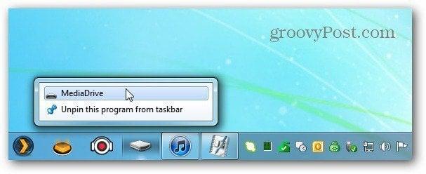 Drive on Taskbar