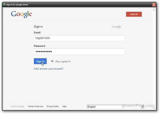 Google drive username