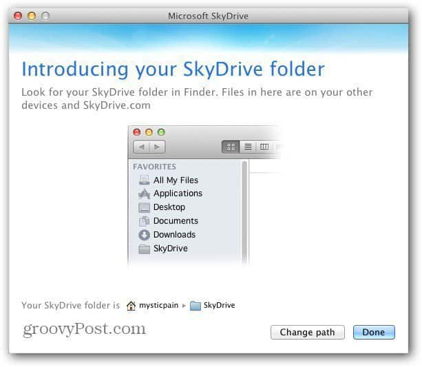 Mac SkyDrive Location
