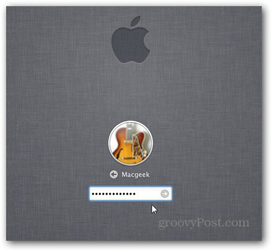 OS X Login Screen