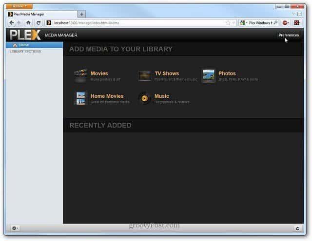 Plex Media Server Firefox