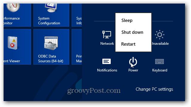 Power Button Windows 8
