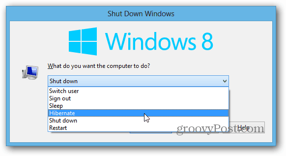 Shutdown Windows 8 Desktop