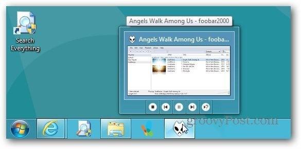 Taskbar Mini Player