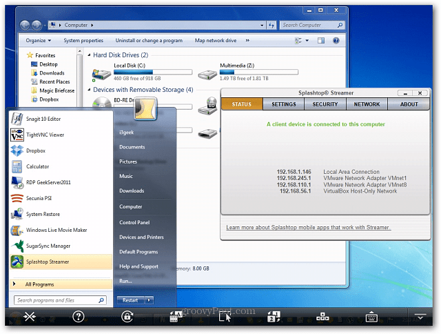 Windows 7 Splashtop
