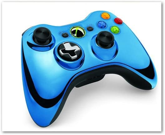 Xbox 360 chrome controller blue