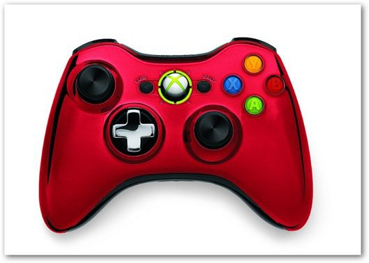 Xbox 360 chrome controller red