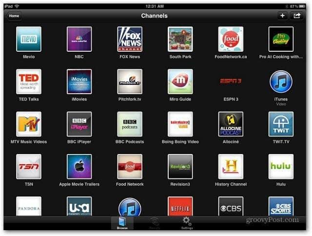 iPad Plex Channels