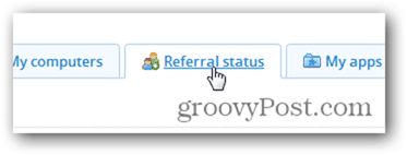 Check dropbox referral status