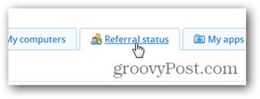 Check dropbox referral status