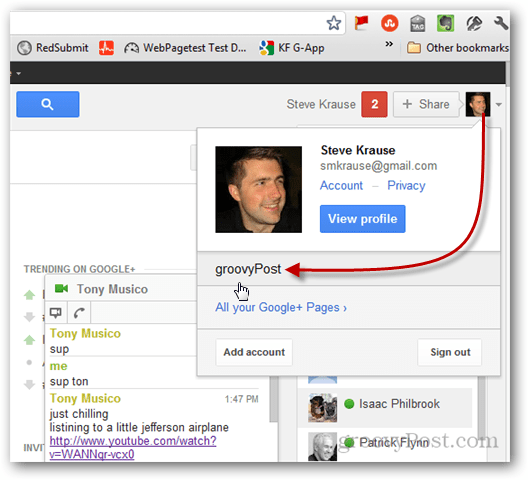 open the Google Plus Page