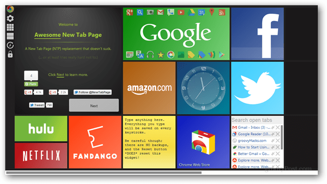 Review: Awesome New Tab Page Google Chrome