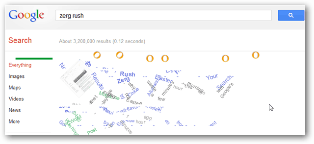 zerg rush in google search