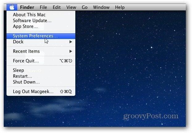 system preferences OS X
