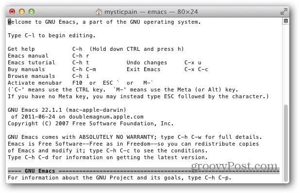 type emacs prompt