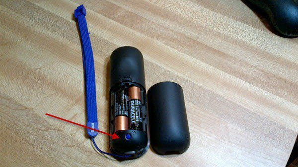 Battery Compartment Pair button