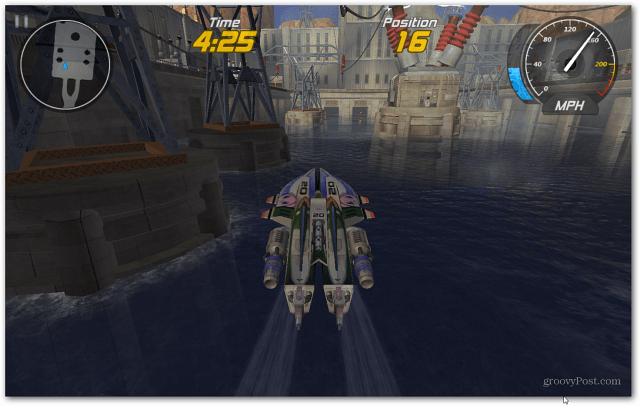 Boat flying