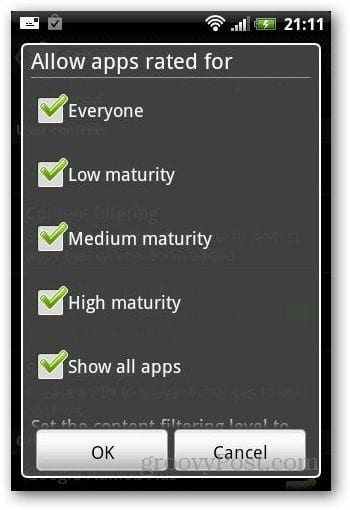 Disable Purchases Android 3