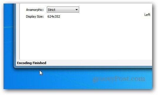 Encoding Finished